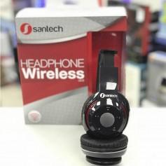 AURICULARES BLUETOOTH SANTECH ST-HP BT07 MANOS LIBRES RANURA MICRO SD MP3 NEGRO