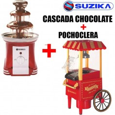 COMBO POCHOCLERA + CASCADA CHOCOLATE SUZIKA LOCAL