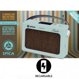 RADIO DISEÑO RETRO AM Y FM BLUETOOTH USB SPICA SP-220 VINTAGE