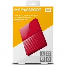 DISCO RIGIDO EXTERNO USB 1TB WD ROJO ELEMENTS MY PASSPORT USB 3.0