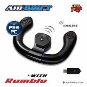 VOLANTE INALAMBRICO AIR DRIFT LEVEL UP WITH RUMBLE PS3 PC