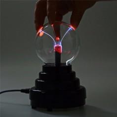 BOLA LAMPARA PLASMA RAYOS ELECTRICA LIGHT A PILA Y USB