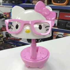 LUZ LAMPARA VELADOR CON BATERIA LUCES LED HELLO KITTY