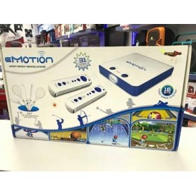 CONSOLA LEVEL UP SIMIL WII EMOTION 32 JUEGOS JOYSTICK INALAMBRICOS 16 BITS
