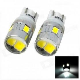 LAMPARA POSICION AUTO 5W T10 DE 6 LED LUPO SIMIL XENON X UNIDAD