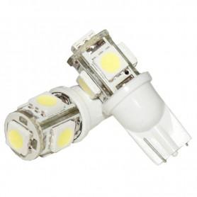 LAMPARA POSICION AUTO 5W T10 5 LED X UNIDAD