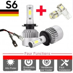 KIT LED CREE S6 COOLER H3 6TA GENERACION 16000LM + 2 LED REGALO
