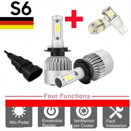 KIT LED CREE S6 COOLER 9006 6TA GENERACION 16000LM + 2 LED REGALO