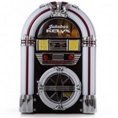 ROCOLA VINTAGE KELYX LUZ LED RADIO AM/FM BLUETOOTH CD AUXILIAR