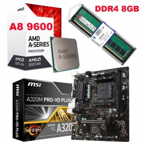 COMBO ACTUALIZACION AMD A8 9600 3.4GHZ 8GB DDR4 RAM MOTHER A320M-PRO HDMI