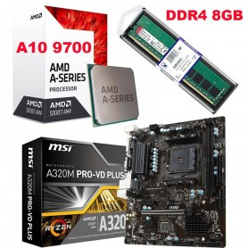 COMBO ACTUALIZACION AMD A10 9700 3.7GHZ 8GB DDR4 RAM MOTHER A320M-PRO HDMI