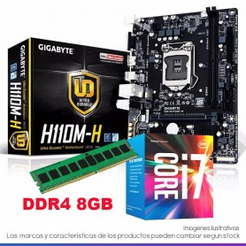 COMBO ACTUALIZACION INTEL CORE I7 7700 4,2GHZ 8GB DDR4 RAM MOTHER H110M HDMI