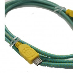 CABLE MICRO USB 1.8M MANHATTAN MALLADO COLORES