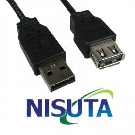 CABLE ALARGUE USB 2.0 1.8 Mts NISUTA