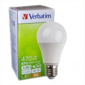 LAMPARA BULBO LED ROSCA E27 VERBATIM 99324 5,3W CALIDA