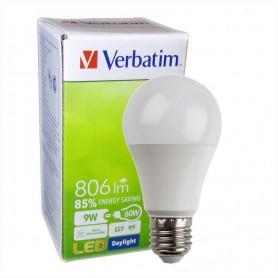 LAMPARA BULBO LED ROSCA E27 VERBATIM 99327 9W FRIA