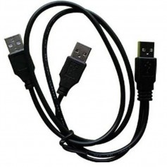 CABLE USB MACHO A 2 USB MACHO