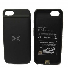 FUNDA CARGADOR PORTATIL IPHONE 6 7 8 3000mAh + FUNCION CARGA INALAMBRICA Qi POWER BANK