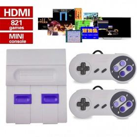 CONSOLA SUPER MINI SN-02 821 JUEGOS CON HDMI CLASICOS RETRO FAMILY