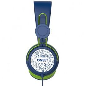 AURICULAR CON CABLE ONSET HC-100 ICON BLUE MANOS LIBRES IT1010 CELULAR PS4