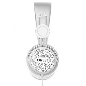 AURICULAR CON CABLE ONSET HC-100 ICON WHITE MANOS LIBRES IT1012 CELULAR PS4