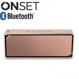 PARLANTE BLUETOOTH ONSET HARMONY 1000MAH 8HS 3W ALUMINIO IT1200 DORADO