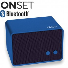 PARLANTE BLUETOOTH ONSET VINTAGE STYLE 500MAH 4HS 3W IT1205 AZUL