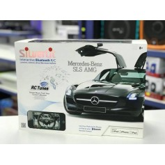 AUTO A RADIO CONTROL MERCEDES BENZ SILVERLIT IPHONE BLUETOOTH LUCES MUSICA
