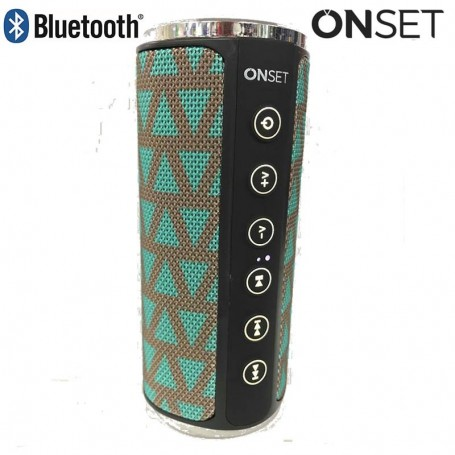PARLANTE BLUETOOTH ONSET TWIN 4.2 MANOS LIBRES 1800MAH 8HS 10W TELA BLUETOOTH 4.2 AZUL