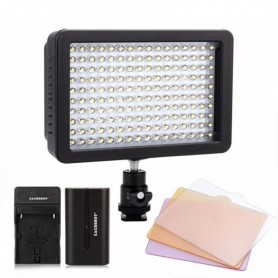 LUZ LED DE VIDEO SUPER POWER PARA CAMARAS DE FOTO 160 LEDS + KIT DE FILTROS