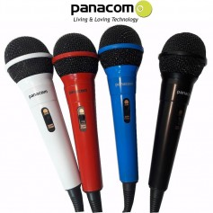 MICROFONO PANACOM MC-9603 COLORES IDEAL PARA KARAOKE CON CABLE