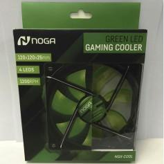 COOLER GAMER 120MM NOGA SILENT PARA PC 4 LEDS VERDE