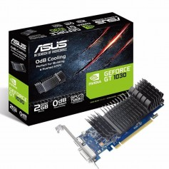 PLACA DE VIDEO ASUS GEFORCE GT 1030 SILENT 2GB LOW PROFILE HDMI DVI